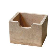 Bestekbak hoog hout 13x12xH10 cm http://www.komshop.nl/