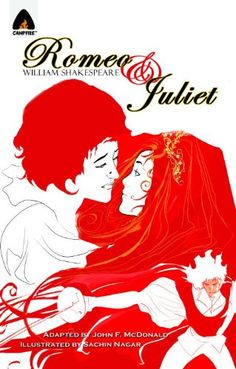 Romeo and Juliet: The Graphic Novel (Campfire Graphic Novels) by John F. McDonald http://www.amazon.com/dp/938002858X/ref=cm_sw_r_pi_dp_4jS4vb1TMF6P7