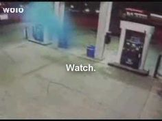 Blue UFO in gas station in the news - looks like a seal - YouTube