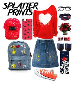 """""""Splatter prints"""" by dareenka ❤ liked on Polyvore featuring Alice + Olivia, Casetify, Converse, Essie, Tory Burch and Jonathan Adler"""
