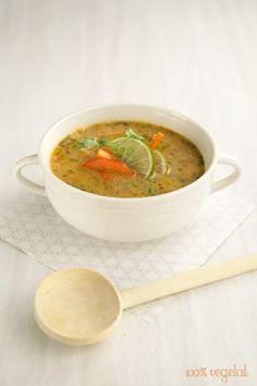 Little Thai Soup - Petite soupe Thaï Raw Food Recipes, Asian Recipes, Gourmet Recipes, Soup Recipes, Vegetarian Recipes, Cooking Recipes, Healthy Recipes, Ethnic Recipes, Baguette