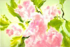 """Saatchi Art Artist Dorota Wójcik; Painting, """"pink flowers"""" #art"""
