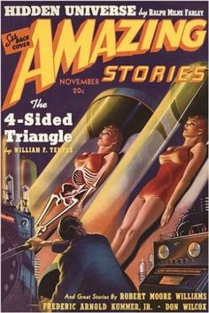 amazing stories VINTAGE COMIC BOOK COVER poster HIDDEN UNIVERSE 24X36 hot