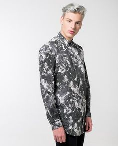 "57dc4d05 Texture Print Shirt - Local Pattern - 1. """