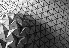 Origami tesselation, variable folding
