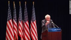 """""""As I mentioned to you earlier, my father was born in Poland. Like Obama, I am the son of an immigrant father. Nobody has ever asked me for my birth certificate. Maybe it's because of the color of my skin being different than Obama's,"""" Sanders said Monday to cheers from the students at Hoover High School in Des Moines, Iowa."""