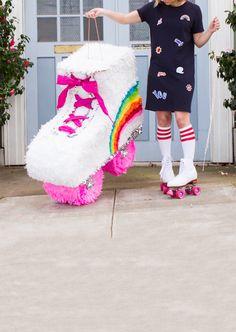 DIY Roller Skate Piñata   Oh Happy Day!