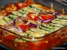 Kjøttdeiggrateng med tomater, løk og squash | TRINES MATBLOGG Kos, Quiche, Macaroni, Healthy Eating, Healthy Food, Nom Nom, Food And Drink, Pasta, Healthy Recipes