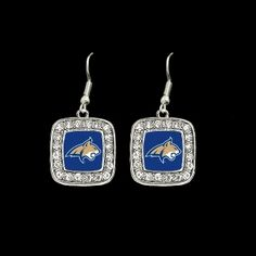 Montana State Bobcats Square Earrings