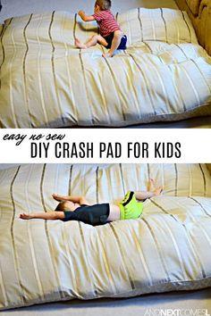 DIY sensory crash pad for kids - so easy to make! Sensory Room Autism, Sensory Rooms, Autism Activities, Sensory Activities, Therapy Activities, Infant Activities, Sensory Play, Activities For Kids, Sensory Tubs
