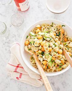 Orecchiette Pasta Salad with Cantaloupe & Avocado
