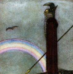 Odin and Bifrost John Bauer