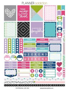 10+ Pretty Planner Printables | http://www.dawnnicoledesigns.com