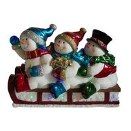 Sledding Snowmen with LEDs - In Store