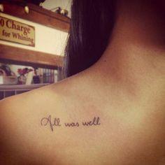 Te hechizarán // #tattoo#inspiration #ideas #tatuaje #harrypotter #potterhead #magia #always