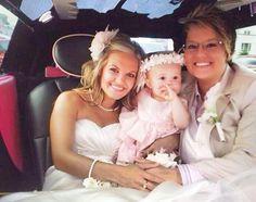 Hillary and Tanish and daughter, married in NYC