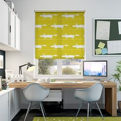 Mr Fox Mini Lime Roller Blind