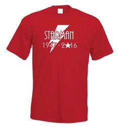 David Bowie T-Shirt | Starman Memorial T Shirt | Perfect Gift Unisex FREE UK P&P O-Neck Oversize Style Tee Shirts Styles