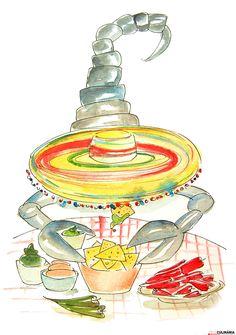 Nativos de escorpião sabiam que as ervas manjericão, chicória e sálvia e o ginseng são muito bons para os  problemas de saúde deste signo. Em geral sente-se atraído por cozinha/condimentos exóticos e sabores pronunciados. Podem adorar sobremesas requintadas e a comida afrodisíaca casa na perfeição com este signo apaixonado...