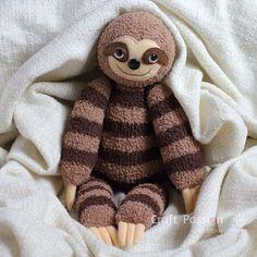 DIY: sock sloth plushie