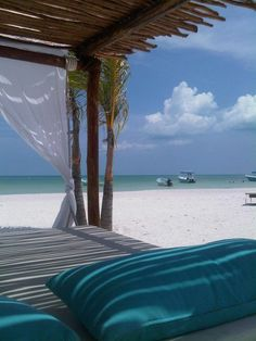 Isla Holbox, Mexico. A small island north of Cancun. So serene and peaceful. My co-worker was here last week and thuroughly enjoyed it. She said the locals will catch fresh fish and make a meal for you on the spot. Apparently the ceviche is to die for.
