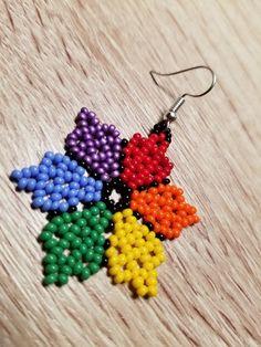 Beautiful earrings made with precious seed beads. Beaded Earrings Patterns, Seed Bead Patterns, Beading Patterns, Crochet Earrings, Etsy Earrings, Bead Earrings, Loom Beading, Beaded Flowers, Beads
