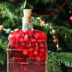 Cranberry Infused Gin with Graprefruit and Star Anise makes a fantastic gift for gin lovers over the festive period.