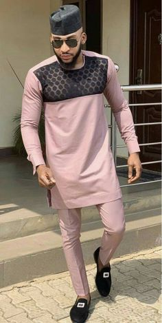 Ponle African men shirt and a matching pant set/African clothing/African men clothing/African men shirt /dashiki/summer/prom/groom suit African Wear Styles For Men, African Shirts For Men, African Dresses Men, African Attire For Men, African Clothing For Men, African Suits, African Women, African Clothes, Dashiki For Men