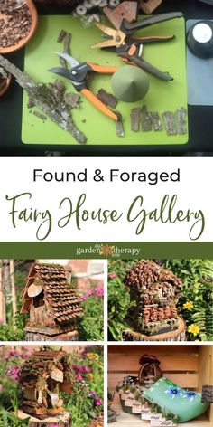 Foraged materials like mushrooms, pinecones, and branches make little woodland houses so realistic looking that you would think they were made by fairies. Using natural elements, the Fairy House Ladies of Disney—sisters Rhonda Maseman and Vikki Yarborough—have been designing whimsical foraged fairy houses for the past ten years. Their designs are not just fanciful, they are also weatherproof and can stay outside all year. #gardentherapy #disney #miniaturegardening #gardendecor Woodland House, Fairy Houses, Pine Cones, Garden Projects, Branches, Mushrooms, Fairies, Whimsical, Sisters