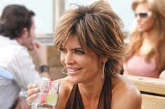 Lisa Rinna ~ Hair. My short cut in 2002 was a cross between hers & Rene Russo's from The Thomas Crowne Affair.