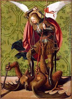 Josse Lieferinxe (1493–1508): San Miguel reduciendo al diablo.