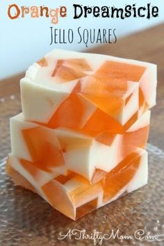 Orange Dreamsicle Jello Squares