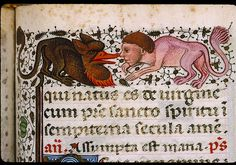 Chambéry - Musée Savoisien - inv. 977-1-1, f. 071  Heures à l'usage de Rome. - Hybrides anthropomorphe et zoomorphe