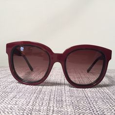 Balenciaga Havana Sunglasses Made in Italy. Burgundy Balenciaga shades with tortoise shell inlay. Super glamorous and flattering shades. In amazing shape with just slight scratching on the outer burgundy temple and lower corner of frame, but unnoticeable when worn. Comes with original case and dust bag. Balenciaga Accessories Sunglasses
