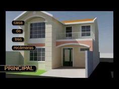 Casa de un piso lote 6x15 mts youtube casas con for Casa minimalista 7x15