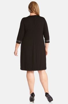 Karen Kane Studded Jersey Sheath Dress (Plus Size) available at Nordstrom #Karen_Kane #Sexy #Black #Studded #Jersey #Sheath #Dress #Plus #Size #Womens #Holiday #Dress #Fashion #Nordstrom