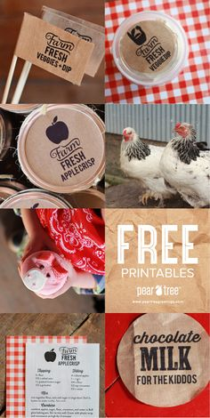 Get free printables for your farm-themed kids birthday party! #peartreegreetings #farm #onthefarm #printables
