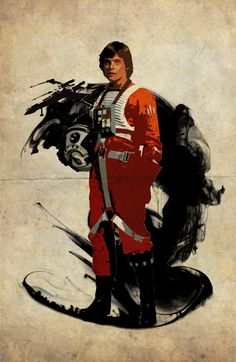 Star Wars Luke Skywalker #poster #art #starwars