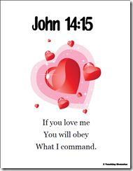 John 14:15 printable plus memory verse helps