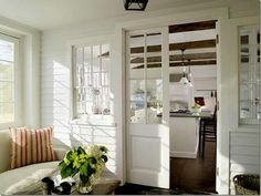 Enclosed porch off of kitchen