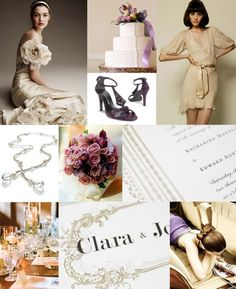Nude, plum, and gray. Nude is an interesting neutral, and it is perfect for a summer or early fall wedding.