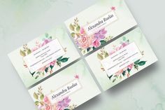 Ad: Watercolor Floral Business Card by Pixavics on Introducing our Watercolor work based Floral Business Card Template. It's best suitable for your brand identity. It's suitable for a variety Business Card Logo, Business Card Design, Creative Business, Graphic Design Personal Branding, Personal Identity, Wreath Drawing, Business Illustration, Card Templates, Design Templates