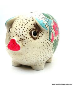 Check out this item in my Etsy shop https://www.etsy.com/listing/217986055/ceramic-piggy-bank-large-piggy-bank