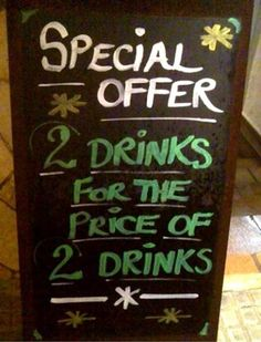 40 Hilarious Chalkboard Signs That'll Make You Look Twice Guerrilla Marketing Photo