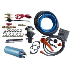 An in-vehicle hot water system is your key to unlimited hot water! All you need is this kit, a radiator and a water source & you will have hot water showers all year round. The heat exchanger is inserted into the vehicle's heater line, & a 12V pump draws water from your water source through a separate line in the heat exchanger so the shower water does not mix with radiator water.