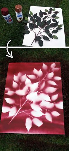 It's really cheap and easy flower art. | 30 Low-Budget Makeovers You Could Do With Spray Paint