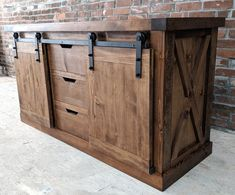 Rustic Bathroom Vanity Side Board Buffet Media Stand Buffet