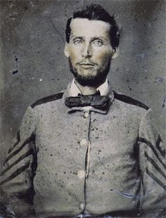 First Sergeant (later Captain) William Benjamin Whitaker of Henderson County. Died at Fredericksburg, VA in 1862. Enlisted in Company I of the 16th Infantry in May 1861 and was promoted Captain in April 1862.