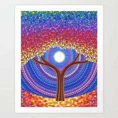 Secret+Life+of+Trees+Art+Print+by+Elspeth+McLean+-+$16.64