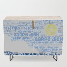 Carpe Diem (Sun) Credenza by beebeedeigner Types Of Furniture, Furniture Design, Interior Decorating, Interior Design, Carpe Diem, Contemporary Decor, Credenza, Decor Ideas, Sun